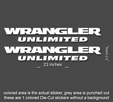 "2 x 23"" Wrangler Decal set Jeep stickers hood fender TJ JK CJ YJ rubicon Style 3"