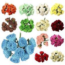 Bunch of 10 Glitter Foam Roses Artificial Flowers Wedding Bouquet