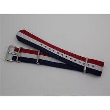 Cinturino Nato rigato Blu Bianco Rosso tricolore termosaldato inox watch straps