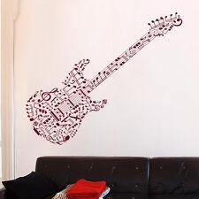 Sticker Décoration XXL Musique Guitare Notes Musique, (30x95 cm à 60x190 cm)