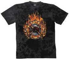 Camiseta Batik negro Bomberos Motivo bomberos Modelo Fuego Rescue