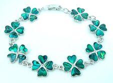 Choose from different Sizes Green Clover Bracelet Or Anklet