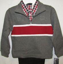 New Van Heusen Boys 3-Piece Set With Charcoal Grey Sweatshirt Size 4 5 6