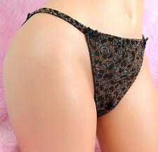Sexy SOFT Leopard Animal Burnout SISSY stretch string Bikini Panties sz 5 6 7