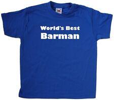 World's Best Barman Kids T-Shirt