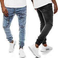 Jeanshose Röhrenjeans Straight Joggerhose Hose Clubwear Herren OZONEE 10424 MIX