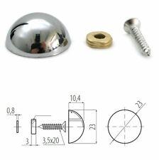 Espejo y Kit de Soporte de Pared de Vidrio Colgando Clips Set/Packs 10x23mm Cromo + Tornillos