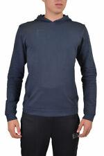 "Emporio Armani EA7 ""Train Big Logo"" Men's Blue Hooded Sweater US S M L XL"