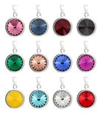 Sterling Silver Rivoli Pendants made with Rivoli 1122 12mm Swarovski® Crystals