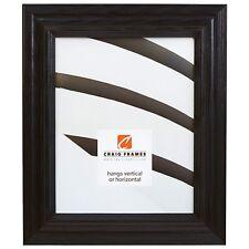 Craig Frames Wiltshire Ash 262, Ebony Black Hardwood Picture Frame
