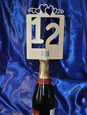 1 to 12 Table Numbers Die Cut Handmade 8 designs Cream ~~ NO Holders Needed~~