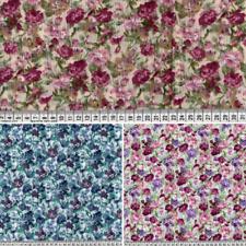 Telas de policotton Tela Floral pequeñas flores de color púrpura material Crafts
