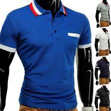 Señores camiseta polo t-Shirt Polo Polo camisa elástica slim fit Clubwear camisa figo Plus