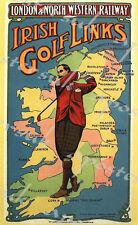 Edwardian Irish Golf Links Railway A3/A4 Print