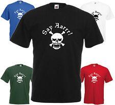 Say Aarrr T Shirt Tee Xmas Gift Top Retro Stag Crossbones Skeleton Pirate Skull