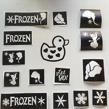 Glitter Tattoo Kit Frozen Style Snow Queen Disney Elsa Olaf Anna Stencils Only