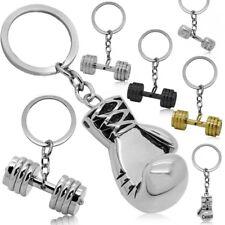 Schlüsselanhänger Schlüsselring Anhänger Hantel Gewicht Boxen Stahl Boxhandschuh