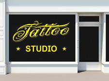 Tatouage Encre Studio shop boutique SIGNE mur fenêtre Decal Autocollant toute taille et couleur