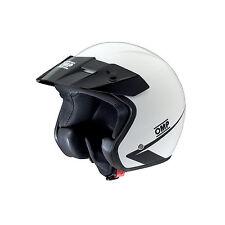 OFFERTA CASCO APERTO JET BIANCO KART MOTO OMP RACING STAR MY2017 SC607E ECE22.05