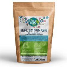 Organic Hemp Protein Powder • Natural Vegan • 50% Protein • RAW Cold Pressed