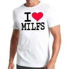 I LOVE MILFs T-Shirt   MILF   American   mère   Mother   bordeI   Pie   sexe
