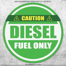 Diesel Fuel Only sticker  decal  label  gas  fuel tank  weatherproof vinyl
