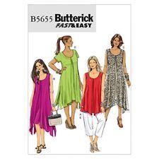 Butterick Ladies Easy Sewing Pattern 5655 Tops, Dress & Trouser Pants (Bu...