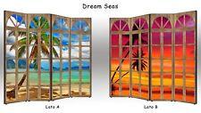 Paravento Dream Seas   Parete divisoria BIFACCIALE 3 o 4 ante separè