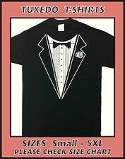 Tuxedo T-Shirt - S M L XL 2XL 3XL 5XL - Black & White Mens Unisex Party Bucks