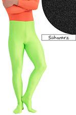 Herren Leggings mit Fuss schwarz Voltigierhose Glanz elastisch Größen S - XXL