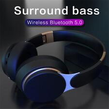 UK Bluetooth 5.0 Wireless Extra Deep Bass Stereo Headphones Noise cancellation