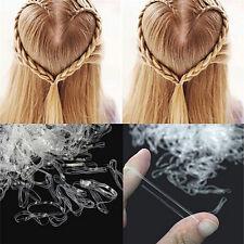 200pcs/500pcs Clear Ponytail Holder Elastic Rubber Band Hair Ties Ropes Rings BD