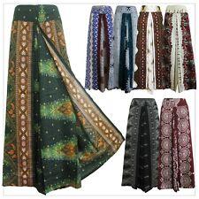 New Ladies Wide Leg Pants Palazzo Sarong Bohemian Gypsy Hippie Trousers Wrap WP