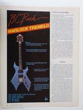 retro magazine advert 1983 B C RICH WARLOCK tremolo , 1/2 page size ad