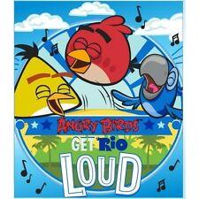 Angry birds Plaid Couverture Polaire 120 x 140 cm Licence Disney Modele au choix