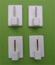 4 weiße Klebehaken für Fensterstange Vitragestangen großes Klebepad - guter Halt