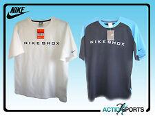 Nike Shox Para Hombres Camiseta en Azul oscuro/azul claro o blanco en Pequeño a XL