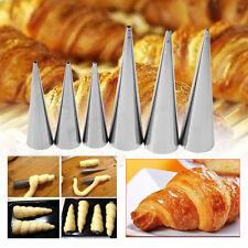 Non-Stick Danish Bread Cannoli Croissant Mold Tubes Decor Puff Cone Baking Tool