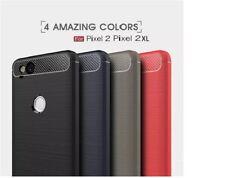 Google pixel 2  /Pixel 2XL  Genuine Carbon Fiber Texured Brush TPU Cover Case