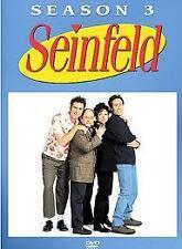 EX RENTAL SEINFELD DVD SEASON THREE (3) 4 DISC  TV SERIES WITHOUT SLEEVE GUARANT