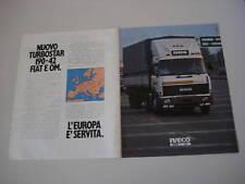 advertising Pubblicità 1984 IVECO TURBOSTAR 190-42