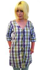 """SALE! Damen """"Hillbilly"""" FLY53 Boyfriend Shirt Kleid in lila und weiß K38"""
