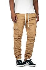 Victorious Men's Drop Crotch Twill Cargo Jogger Pants [805]