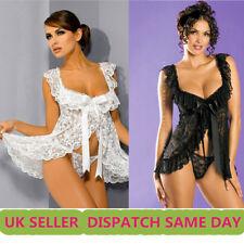 Sexy lace lingerie floral bridal nightwear underwear sleepwear UK seller