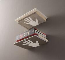 Mensola Mano-la a parete, porta Ferma libri, cd, dvd design