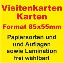 Visitenkarten mit abgerundeten Ecken + Papierauswahl + Laminierung!