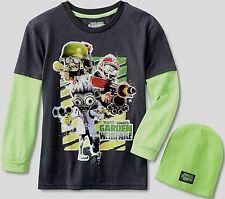 Plants vs Zombies Garden Warfare t-shirt 6 7 S 8 M 10 12 L 14 16 Child Beanie Nw