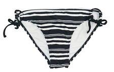 In Mocean Black Stripe Side Tie Bikini Bottom Swimsuit Juniors' Ladies S,M