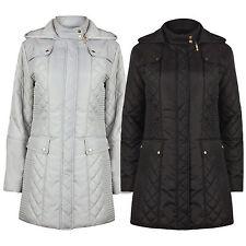 donna IMBOTTITO Autunno Inverno Anti Pioggia Cappotto Giacca, taglia 10 to 24