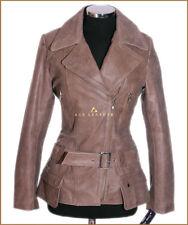 Diaz Vintage Brown (2812) Ladies Casual Designer Real Lambskin Leather Jacket